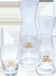 Glaswaren mit Muster